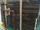 Слябы золотистых вен Portoro мраморный деревянных мраморный