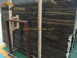 Portoro 황금 대리석 나무로 되는 정맥 대리석 석판