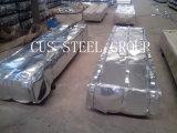 Bwg30 galvanizó el apartadero del material para techos del metal/la hoja galvanizada del hierro acanalado