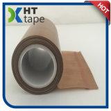 Band PTFE Op hoge temperatuur van het Silicium van de Doek van de vezel de Zelfklevende Hittebestendige Teflon