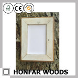 Frame de retrato gasto da madeira contínua do estilo para a decoração Desktop