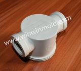 Modelagem por injeção plástica inoxidável de aço 420ss da câmara de ar da tubulação da T-Forma do PVC