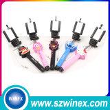 Bâton de Selfie de triangle de bâton de Selfie de câble par câble le meilleur marché de prix usine