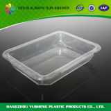 Пластичный круглый ясный контейнер отсека