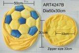 Decoración amarilla y azul del hogar de la cubierta de la silla del balompié