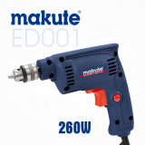 Makute 260W 6.5mm Electric Hand Drill with Ce GS (ED001)