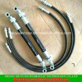 Boyau hydraulique de pétrole flexible à haute pression de tresse de fil de SAE100 R2