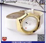 Оптовая продажа wristwatch кожаный планки плиты золота кварца вахты тавра повелительниц Paidu способа Yxl-358