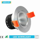 Anuncio publicitario blanco puro ahuecado Downlight especular del proyecto de 7W Dimmable LED