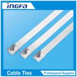 Serre-câble inoxidable en métal de 12 pouces avec la bille de roulis