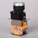 Dia22mm-La118mlnの押しボタンスイッチ、黒、赤、緑、黄色、青、白いカラー