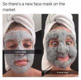 Máscara de limpeza profunda do Pore Carbonated da face do cuidado de pele da máscara da argila da bolha