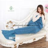 manta hecha punto saco de dormir suave de la manta de la cola de la sirena del ganchillo del 180cm*90cm