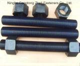 Schwarze ASTM A490 Grade10.9 voll verlegte Schrauben