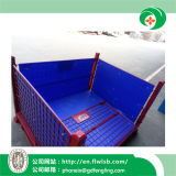 Zusammenklappbarer Stahlmaschendraht-Rahmen für Lager-Speicher