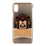 El perro del oro de C&T Rose imprimió la caja protectora dura del teléfono de los diseños del modelo para el iPhone 8