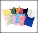 Maglietta normale del cotone di modo con differenti colori