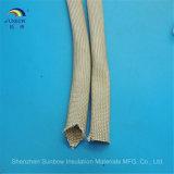 Fiberglas, das 400 - 600 Grad-elektrische Isolierungs-Kabel-Draht-Hülse Sleeving ist
