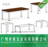 Mesa de centro de madeira moderna da mobília de escritório com pés do metal