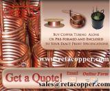 Tubulação macia do cobre do gás da têmpera