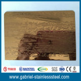 catalogue des prix de feuille gravé en relief par épaisseur d'acier inoxydable de 316 1.0 millimètre