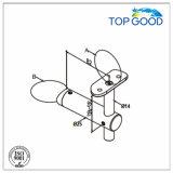 Support latéral de balustrade de support avec le connecteur en verre
