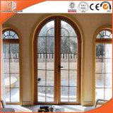 Bois solide Window4 de mélèze en bois de pin de guichet de tissu pour rideaux de Rond-Dessus de gril