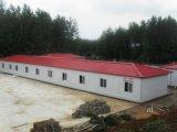 Casa prefabricada ahorro de energía de la estructura de acero para el almacén de la oficina del dormitorio del trabajador