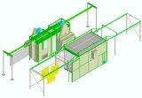Usine d'enduit manuelle de poudre de système de convoyeur pour la production faible