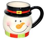 Tasse de café faite sur commande en céramique de cuvette de thé de nouveauté pour le cadeau de Noël