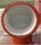 Труба истирательной втулки пробки глинозема керамической выровнянная для предохранения от Corrision