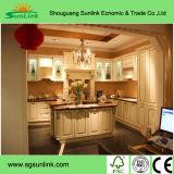 Mobília luxuosa da cozinha da madeira contínua do bordo de America do Norte