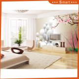 3D Stone Circle Shape Pattern com Peach Blossom Oil Painting