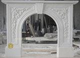 Mantel découpé par marbre de cheminées en pierre (FX02)