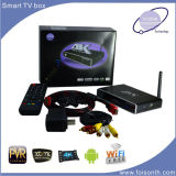 A caixa esperta satélite IPTV árabe da tevê de Recivger S805 canaliza a caixa da tevê do Internet