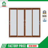 Porta de vidro de deslizamento de alumínio com projeto das cortinas (WJ-001)