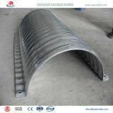 Tubo acanalado durable fuerte del metal para la alcantarilla ferroviaria