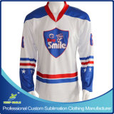 Sublimation su ordinazione Fitted Ice Hockey Jersey per Ice Hockey Sports