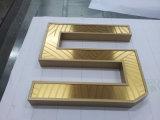 Lettera dorata dell'acciaio inossidabile delle lettere della lettera della Manica come contrassegno esterno