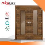 Porte coupe-feu en bois avec Bm Trada et UL Certificat 90mins, 120min, Fire Rating Porte de sécurité, porte en bois massif, porte coupe-feu