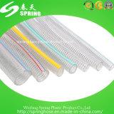 Mangueira reforçada flexível do PVC com fio de aço inoxidável