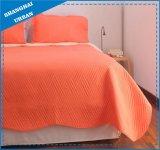 明るいオレンジ固体ポリエステルキルトセット