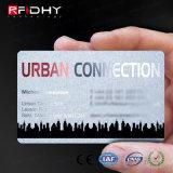Cartões plásticos sem contato com microplaquetas de RFID
