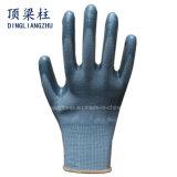 Shell-graues Nitril beschichtete Palmen-und Finger-Handschuhe des Polyester-13G