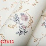 Tissu de mur de PVC, papier peint de PVC, PVC Wallcovering, roulis de plancher de PVC, tissu de mur de PVC, papier peint de PVC