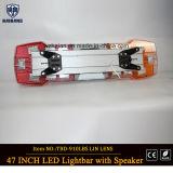 47 pulgadas con el piloto LED Lightbar del coche policía impermeable del coche de bomberos del altavoz y de la sirena LED Lightbar