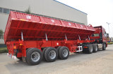 3 juist-Dumpt assen 11m/de Oplegger van de Vrachtwagen van de Kipwagen van de Zijgevel