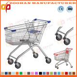 Draht-Metallsupermarkt-Einkaufen-Karren-Laufkatze (ZHt252)