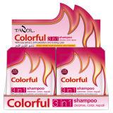 Косметика цвета волос шампуня пользы дома естественная черная цветастая
