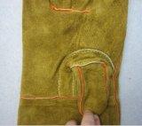 牛そぎ皮は親指のWeltedの溶接作業手袋を補強した